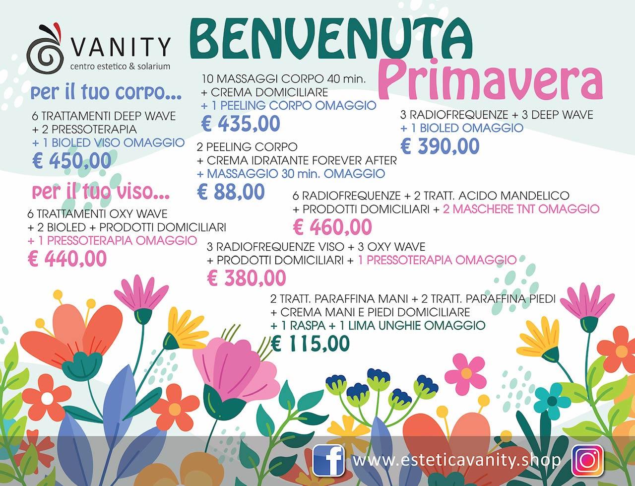 Promozioni primavera Estetica Vanity Firenze